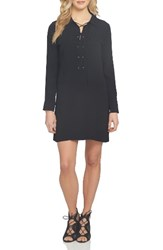 1.State Women's Lace Up Shirtdress Rich Black