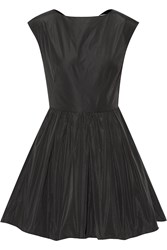 Carven Open Back Taffeta Mini Dress