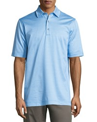 Bobby Jones Short Sleeve Micro Check Polo Shirt Marine Blue