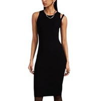 Helmut Lang Compact Rib Knit Sleeveless Dress Black