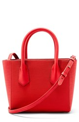 Dagne Dover Signature Petite Coated Canvas Tote Red Poppy