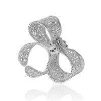 Arabel Lebrusan Filigree Bow Ring Silver