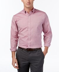 Club Room Men's Big And Tall Solid Oxford Shirt Classic Fit Cherry Pink
