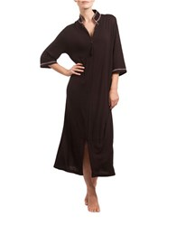 Lissome Long Mandarin Zip Robe Black