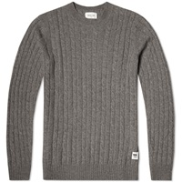 Wood Wood Denton Sweater Grey Melange