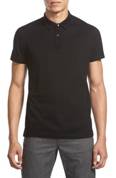 Theory 'Sandhurst.Repute' Slim Fit Mercerized Pique Polo Black