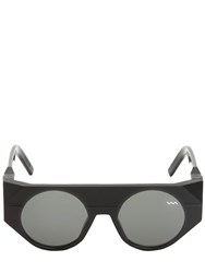 Vava Rounded Matte And Shiny Acetate Sunglasses Black