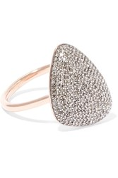 Monica Vinader Nura Rose Gold Vermeil Diamond Ring K