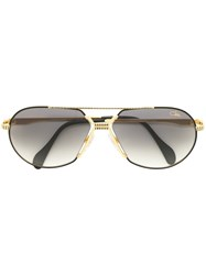 Cazal Aviator Sunglasses Metal Acetate Metallic