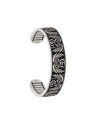 Gucci Double G And Leaf Bracelet Silver
