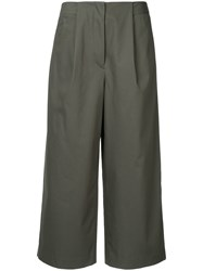Des Pres High Waist Culottes Green