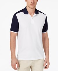 Club Room Men's Colorblocked Performance Polo Created For Macy's Bright White