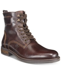 Alfani Men's Hank Plain Toe Utility Boots Only At Macy's Men's Shoes Brown
