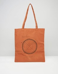 Asos Tote Bag With Target Print In Rust Orange