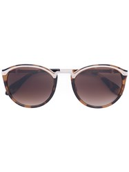 Carolina Herrera Tortoise Shell Round Sunglasses Brown