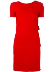 Lanvin Bow Detail At The Back Dress Red