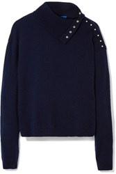 Mih Jeans M.I.H Woodman Cashmere Turtleneck Sweater Midnight Blue