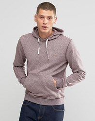 Farah Hoodie With F Logo In Regular Fit Port Marl Red