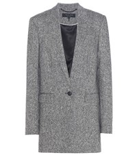 Rag And Bone Ronin Tweed Wool Blazer Grey