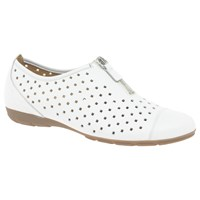 Gabor Gibson Perforated Zip Detail Pumps White