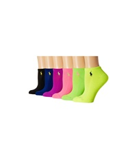 Lauren Ralph Lauren Sport Ped 6 Pack Lime Women's Low Cut Socks Shoes Green