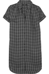 Madewell Plaid Flannel Shirt Dress Black
