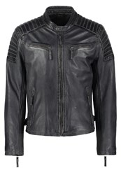 Gipsy Chester Leather Jacket Grey Anthracite