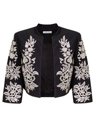 Precis Petite Daphne Embroidered Jacket Black Multi