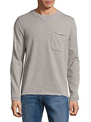 Atm Anthony Thomas Melillo Long Sleeve Heathered Crewneck Shirt Heather Grey