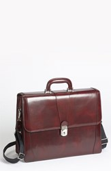 Men's Bosca Double Gusset Briefcase Brown Dark Brown