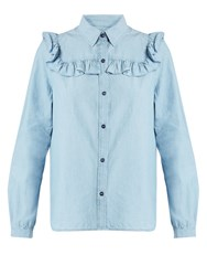 A.P.C. Memphis Cotton Chambray Shirt Light Blue