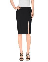 Les Hommes Femme Skirts Knee Length Skirts Women Black