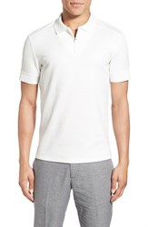 Men's Vince Camuto Mesh Polo White