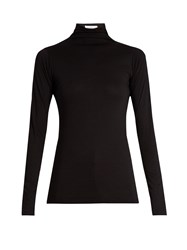 Velvet By Graham And Spencer Talisia High Neck Long Sleeved T Shirt Black