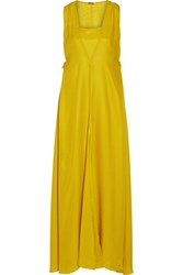Adam By Adam Lippes Silk Crepe Gown Marigold