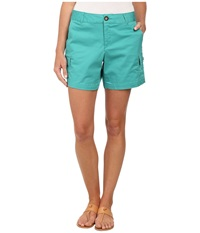 Dockers Trapunto Stitch Cargo Shorts Sea Green Women's Shorts