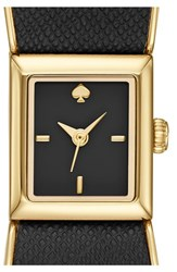 Women's Kate Spade New York 'Kenmare' Bow Case Watch Black Gold