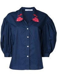 Vivetta Heart Collar Shirt Blue