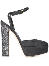 Sergio Rossi Glitter High Heel Sandals Blue