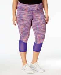 Ideology Plus Size Space Dyed Cropped Leggings Only At Macy's Cosmic Space Dye