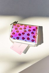 Urban Outfitters Iridescent Cardholder Peach