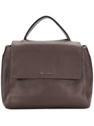 Orciani Textured Tote Bag Brown