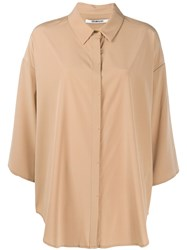 Chalayan Oversized Cropped Sleeves Shirt 60