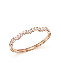 Bloomingdale's Diamond Stackable Band Ring In 14K Rose Gold .15 Ct. T.W. Pink