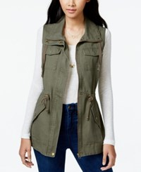 American Rag Juniors' Cargo Vest Only At Macy's Olive