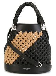 Sonia Rykiel Woven Bucket Bag Black