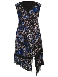 Chesca Floral Print Dress Cobalt
