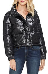 Vince Camuto Stand Collar Puffer Jacket Rich Black