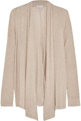 Splendid Wrap Effect Stretch Knit Cardigan Tan