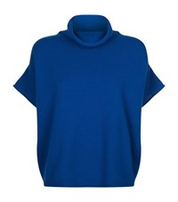Escada Sport Short Sleeve Roll Neck Jumper Female Blue